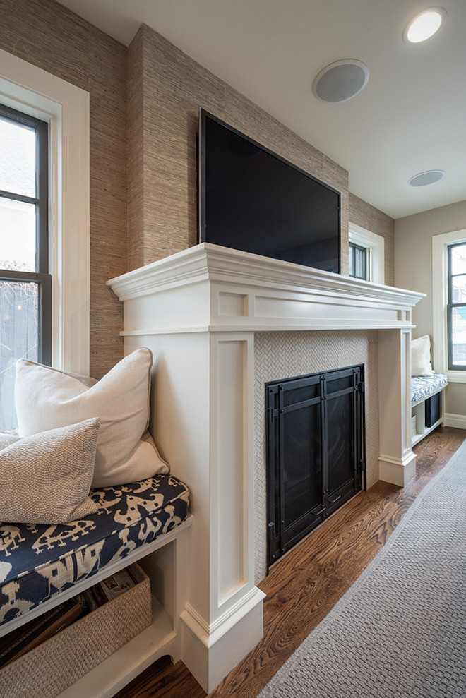 Window seats on both sides of fireplace. Living room, family room with window seats on both sides of fireplace. #Windowseats #fireplace #fireplacewindowseat Northstar Builders, Inc.