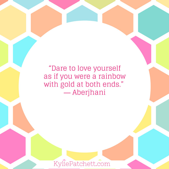 Author-Poet Aberjhani — 'Dare to love yourself as if you were a rainbow with gold at both ends.'