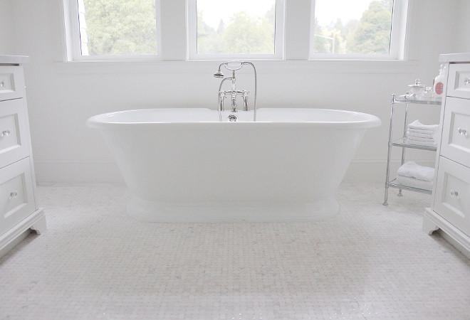 Bathroom Floor Tile. Bathroom Floor Tile is Jeffrey Court Chapter 16- Metropolitan Grey #16510. #Bathroom #Floor #Tile jshomedesign