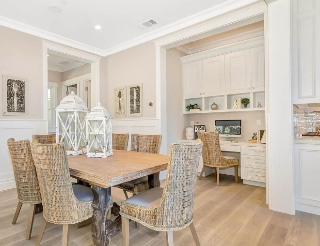 Breakfast room. The kitchen opens to a breakfast room with built-in desk. Breakfast room with desk. #Breakfastroom