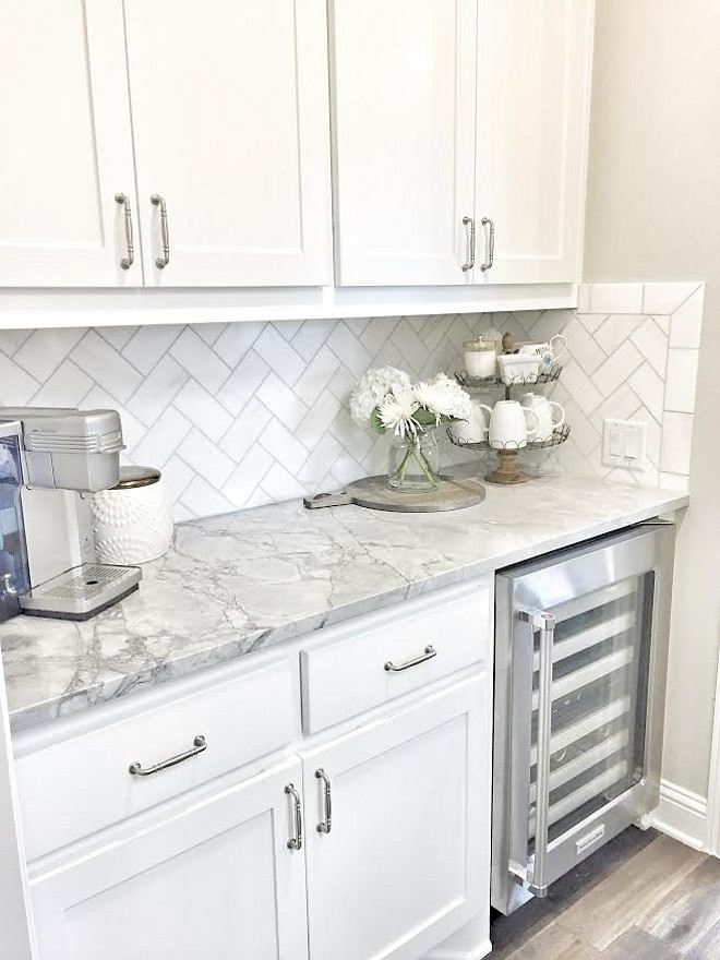 butlers pantry small butlers pantry with herringbone backsplash tile