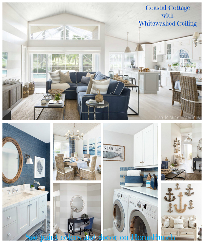 Coastal Cottage with Whitewashed Ceiling. Coastal Cottage with Whitewashed Ceiling Ideas. Coastal Cottage with Whitewashed Ceiling Pictures.