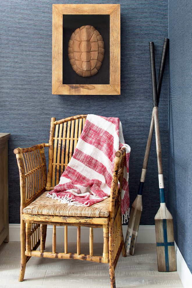 Coastal Interiors. New Coastal Interior Ideas. Coastal Cottage Inteirors with rustic Bamboo chair. #CoastalInteriors #NewCoastalInteriorIdeas #Coastal #Cottage #Inteirors Lisa Michael Interiors