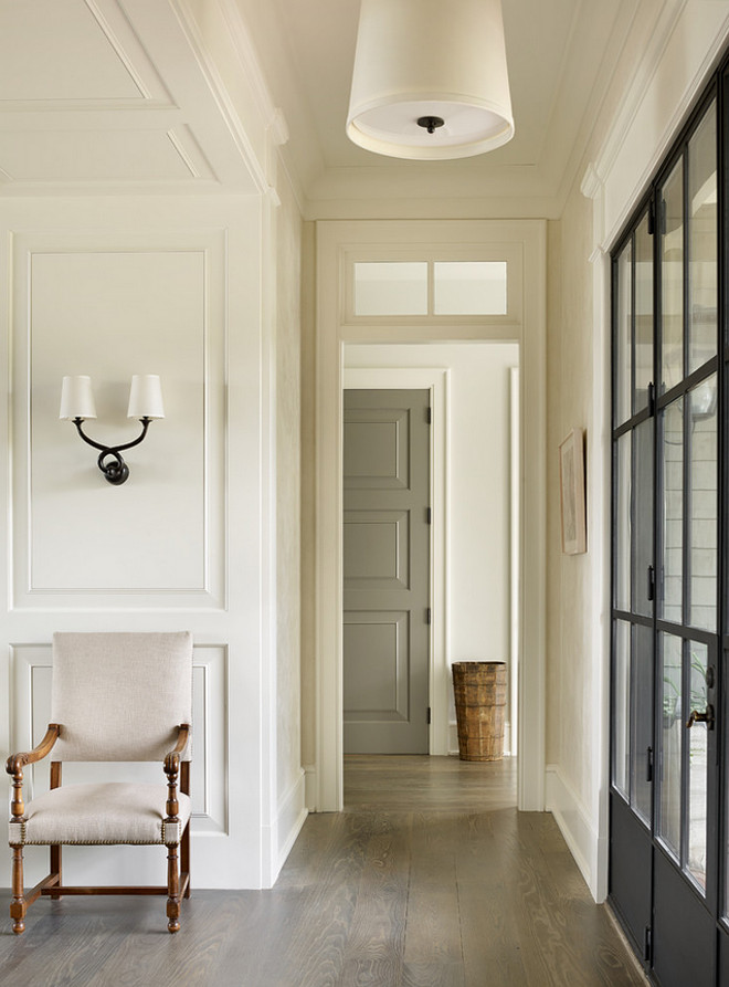 Dark grey door paint color. Grey interior door paint color is Benjamin Moore Kendall Charcoal. #darkgrey #interiordoor #paintcolor #BenjaminMooreKendallCharcoal Beth Webb Interiors