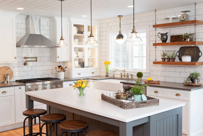 farmhouse style kitchen lighting 10 kitchen remodeling styles home bunch interior design 7167