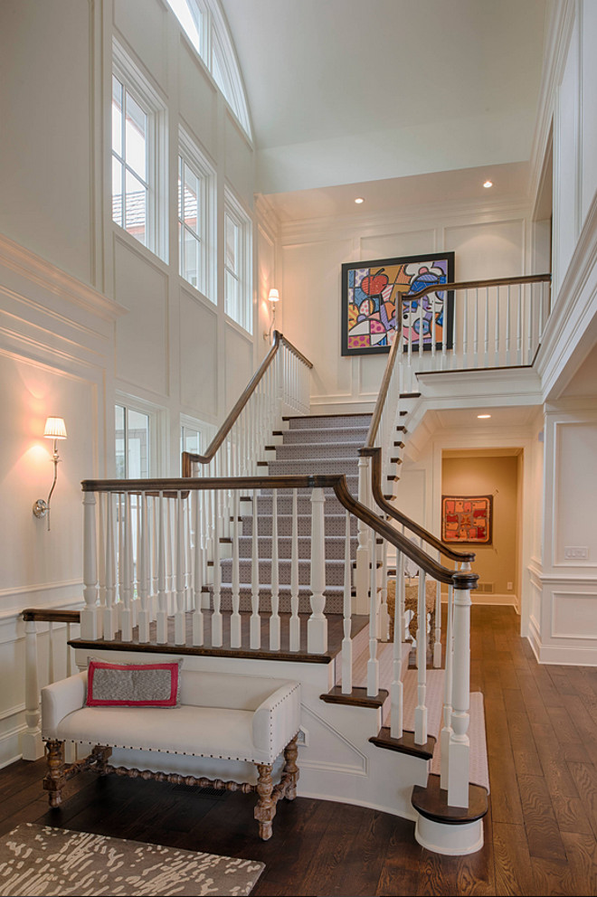 Foyer white wall paneling. Traditional Foyer white wall paneling. Foyer white wall paneling ideas. Foyer white wall paneling. #Foyerwhitewallpaneling #whitewallpaneling #wallpaneling #paneling