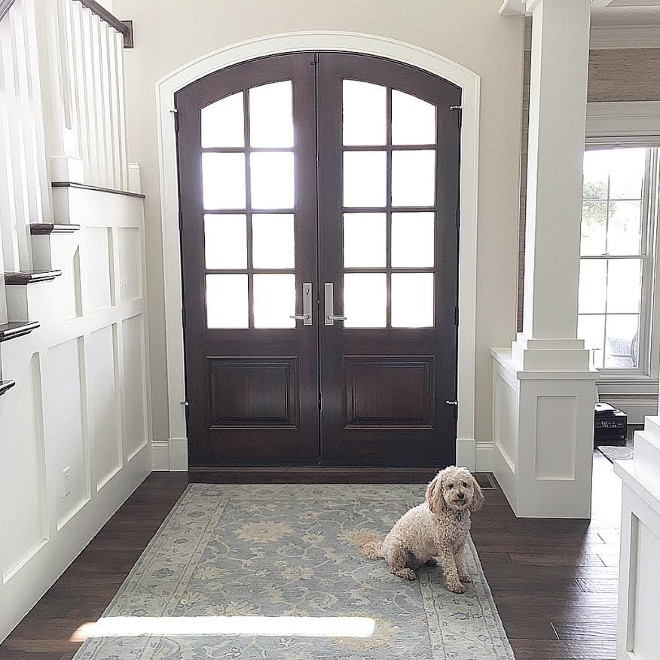 Front door. Wooden double front door. Front door. All wood custom made by local Amish Carpenters. Wooden double front door. Front door. #Woodendoubledoor #frontdoor #door Beautiful Homes of Instagram carolineondesign