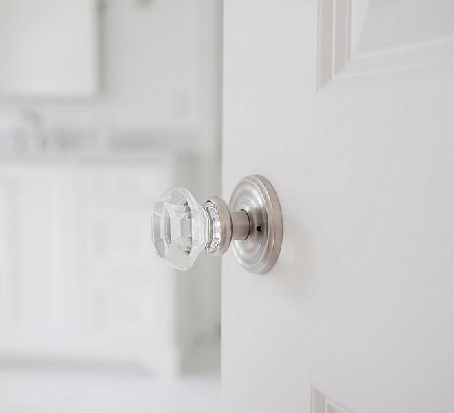 Glass Door Handle. Emtek - Door handles - Old town clear knob- polished nickel #Glass #door #handle jshomedesign