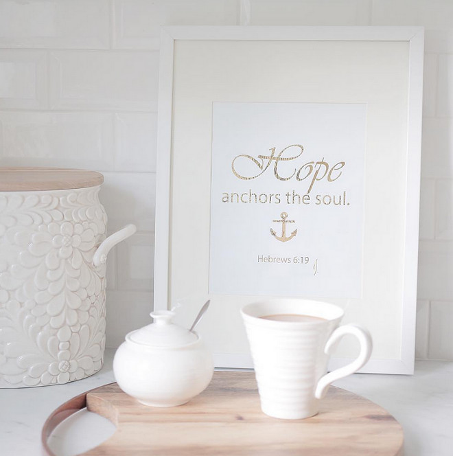 Hope is what anchors the soul framed art. jshomedesign