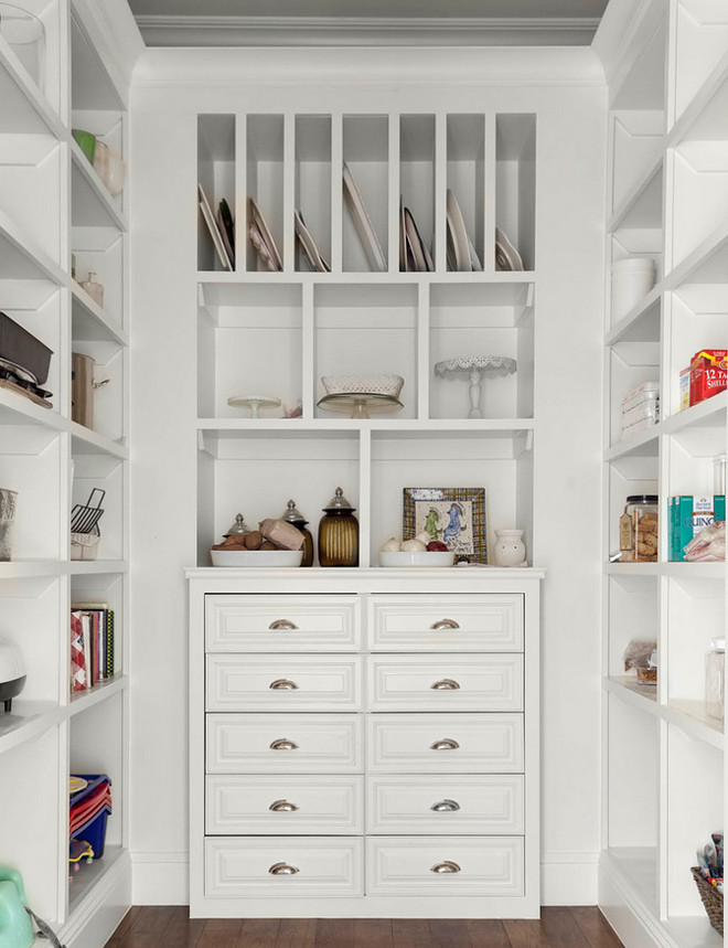 Kitchen pantry with open cabinets and drawers. Pantry with open cabinets and drawers #Kitchenpantry #pantry #pantryideas #opencabinets #kitchencabinet #kitchendrawers