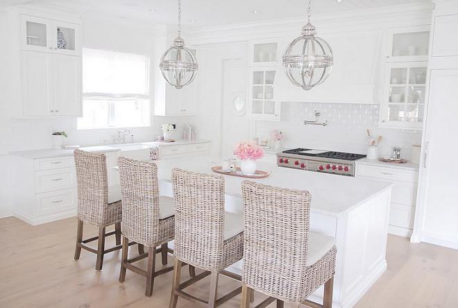 Kitchen wicker stools. Kitchen wicker stools. Kitchen wicker stools. Kitchen wicker stools are from Restauration Hardware. #Kitchen #wickerstools. jshomedesign