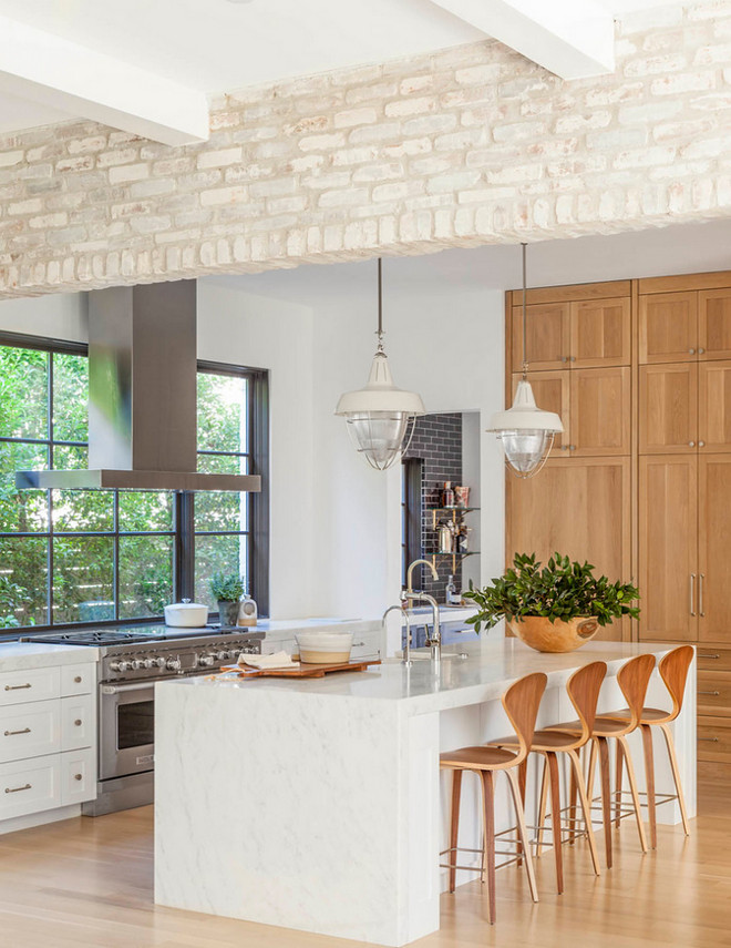 Kitchen with exposed brick wall. Kitchen with whitewashed brick wall. Kitchen with exposed brick wall. Kitchen with whitewashed brick wall ideas #Kitchen #exposedbrickwall #Kitchenbrickwall #whitewashedbrick #whitewashedbrickwall Coats Homes