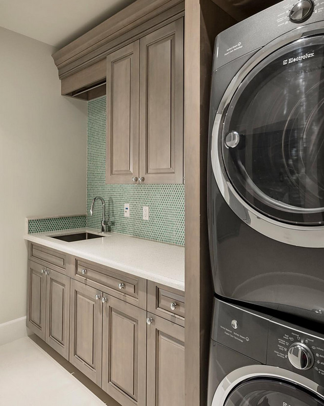 Laundry room backsplash. Laundry room cabinet and backsplash. Small Laundry room cabinet and backsplash ideas. #Laundryroom #Laundryroomcabinet #Laundryroombacksplash #SmallLaundryroom A Finer Touch Construction,LLC