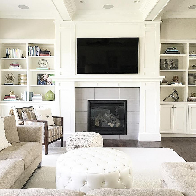 Living room fireplace built in. Neutral Living room fireplace built in decorating ideas. Neutral Living room fireplace built in #Livingroom #fireplace #builtin