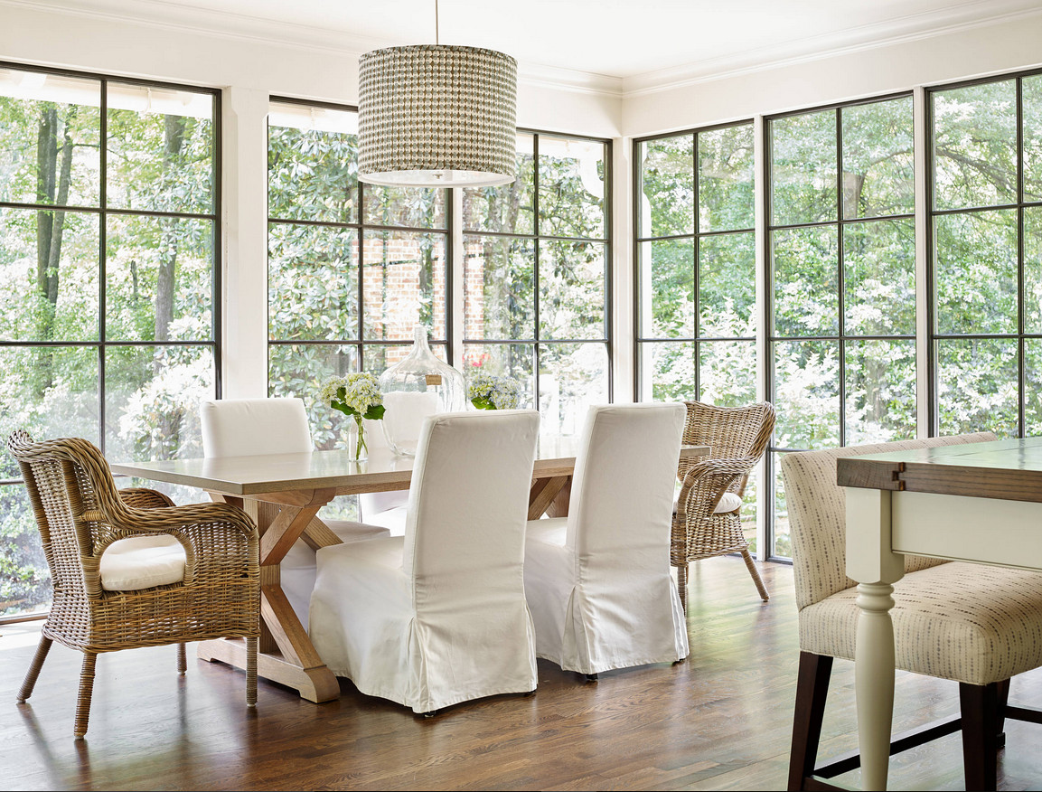 Farmhouse Dining room black steel windows. Dining room black steel windows. Dining room black steel windows. Beautiful Dining room black steel windows. #Diningroom #blacksteelwindows #Farmhouse #Farmhousediningroom Liz Williams Interiors