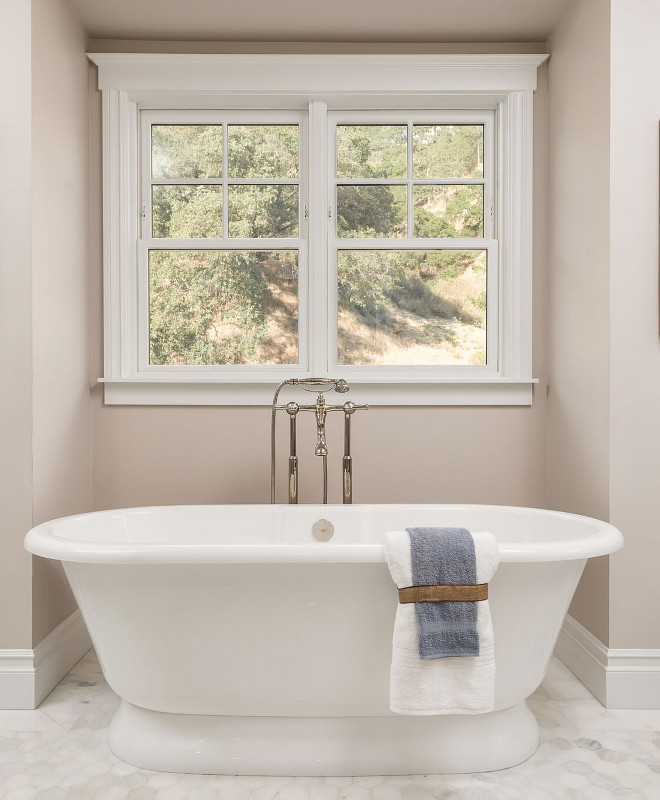 Popular Bathroom Colors: Newly Built Hamptons Style Home