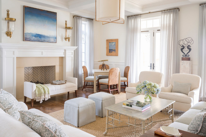 Neutral living room. Coastal Neutral living room. Classic neutral coastal living room. Classic neutral coastal living room decor. #Classic #neutral #coastal #livingroom Phoebe Howard