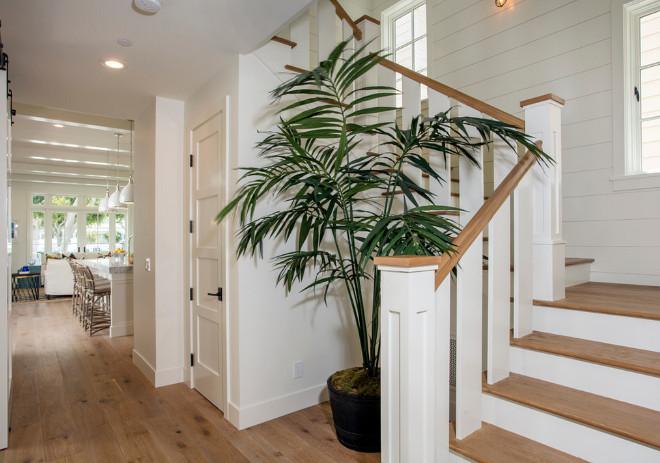 Reclaimed wood stairs. Reclaimed wood stairs and shiplap on walls. Reclaimed wood stairs. Reclaimed wood stairs #Reclaimedwoodstairs #Reclaimedwood #stairs Blackband Design
