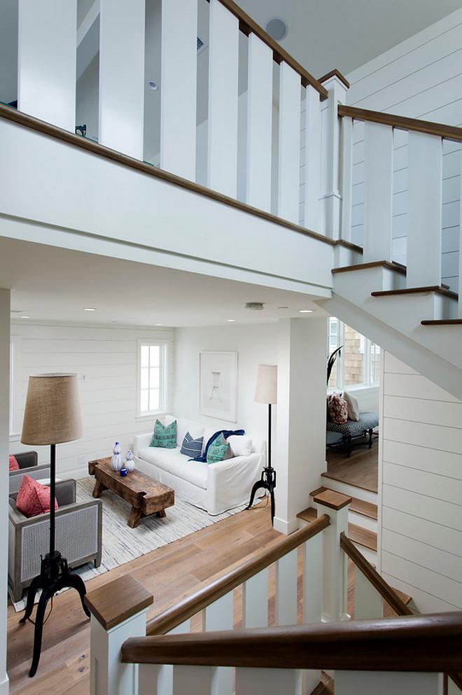 Shiplap walls. Staircase shiplap. Staircase shiplap walls. Staircase shiplap walls. White Staircase shiplap walls. #Staircaseshiplapwalls #Staircase #shiplapwalls #shiplap #walls Blackband Design