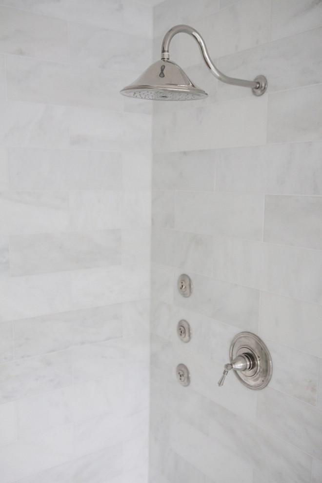Shower Faucet. Shower faucets. Shower faucet is Brizo- Polished nickel. #Showerfaucets #Shower #faucets jshomedesign