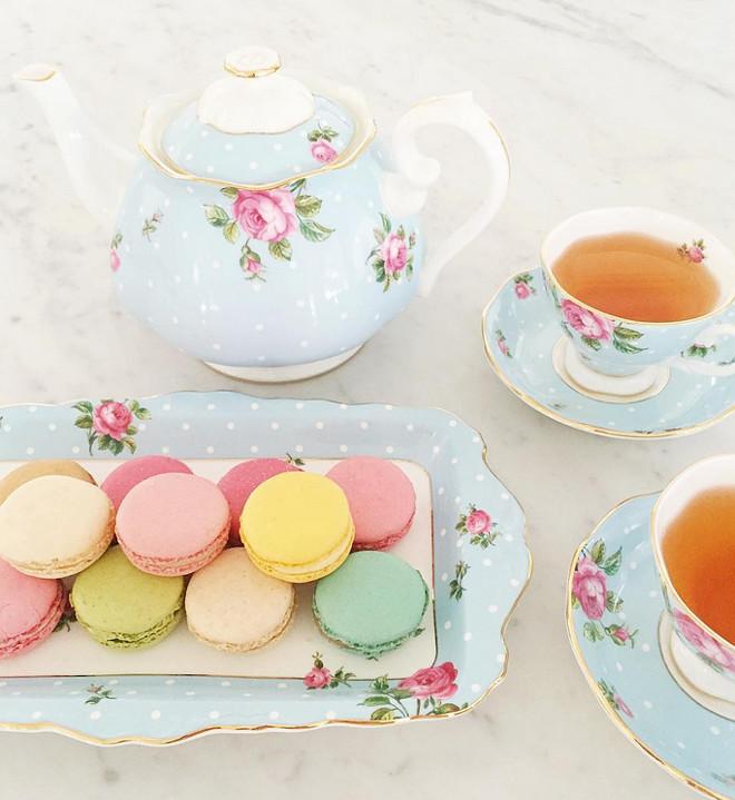 Tea set. Beautiful tea set from Royal Albert. #Teaset #tea #RoyalAlbert jshomedesign