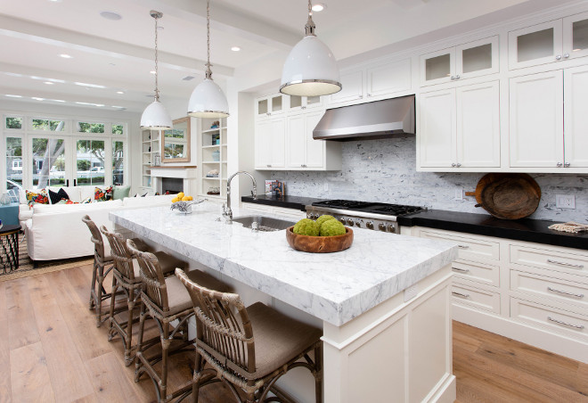 Thick marble countertop. Kitchen with thick marble countertop. Kitchen sleek thick marble countertop. Kitchen with thick marble countertop #Kitchen #thickmarblecountertop #Kitchenthickmarblecountertop #countertop Blackband Design