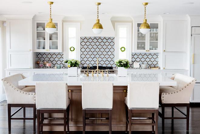 White Kitchen With Cambria Quartz Countertop Home Bunch