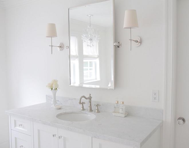 White Master Bathroom. Crisp White Master Bathroom. White Master Bathroom Ideas. White Bathroom #WhiteMasterBathroom #whitebathroom #White #MasterBathroom #crispwhite #crispwhitebathroom #crispWhiteMasterBathroom jshomedesign