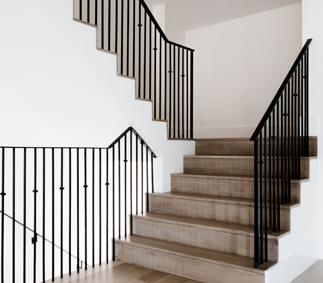 White Oak Staircase Flooring. White Oak Staircase Flooring with matte clear, water-based stain. The stain is a matte, clear water-based stain with some white added. #WhiteOak #Flooring #StaircaseFlooring #WhiteOakStaircase #WhiteOakFlooring #matteclearfinish #waterbasedstain Coats Homes