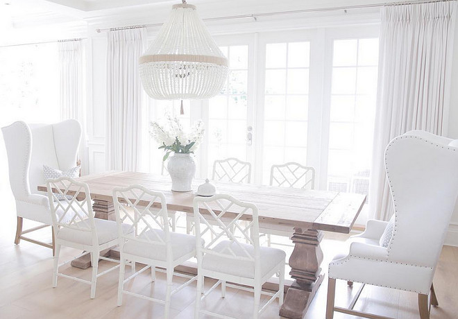White dining room. White dining room. Serene and calm White dining room. #Whitediningroom #diningroom jshomedesign