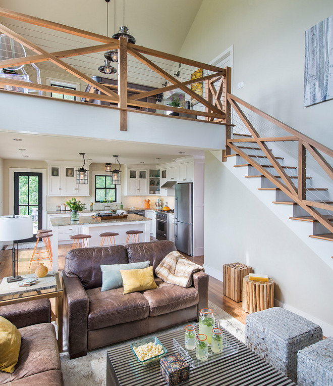 20 Unusual Interior Decorating Ideas For Wooden Stairs: Ski Home Interior Design Ideas