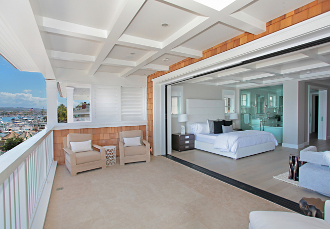 Balboa Beach House Balboa Beach House Bedroom feature La Cantina sliding doors. #Balboa #BeachHouse Winkle Custom Homes. Melissa Morgan Design. Ryan Garvin Photography