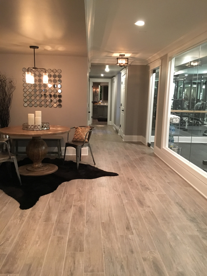 Basement Flooring Ideas. Flooring: Thomas Tile Faux Wood Grey Washed Porcelain Tiles. Flooring: Thomas Tile Faux Wood Grey Washed Porcelain Tiles Flooring: Thomas Tile Faux Wood Grey Washed Porcelain Tiles Beautiful Homes of Instagram Sumhouse_Sumwear