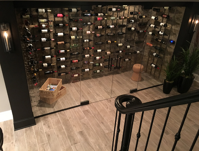 Basement Wine Cellar. Modern Basement Wine Cellar #modernwinecellar #winecellar #basement Beautiful Homes of Instagram Sumhouse_Sumwear