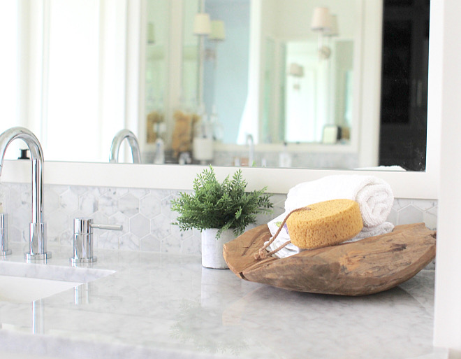 Countertops are Carrera marble. Bathroom Countertops are Carrera marble. #Bathroom #Countertops #Carreramarble bathroom-carrera-marble-countertop Home Bunch's Beautiful Homes of Instagram curlsandcashmere