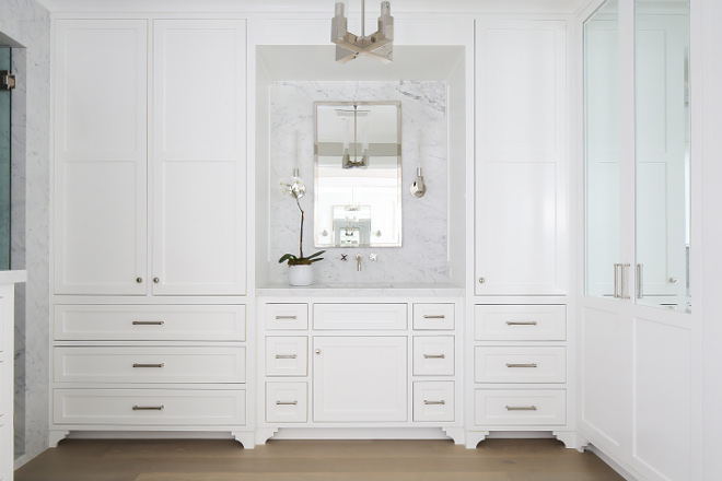 Bathroom Cabinets Floor To Ceiling california beach house with crisp white coastal interiors - home