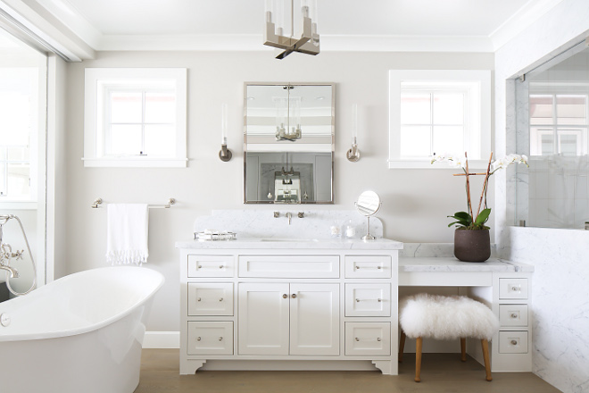 Decorators white from Benjamin Moore. White cabinet paint color is Decorators white from Benjamin Moore. Decorators white from Benjamin Moore #DecoratorswhiteBenjaminMoore Winkle Custom Homes. Melissa Morgan Design. Ryan Garvin Photography
