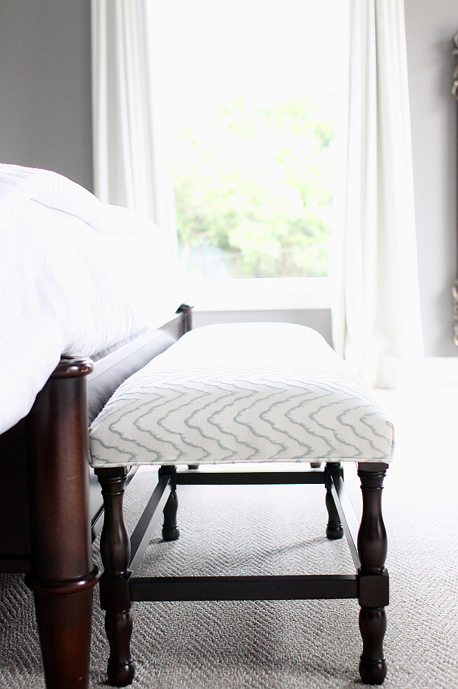 Bed Bench. Bench is from Z-Gallerie. bed-bench #Bed #Bench Home Bunch's Beautiful Homes of Instagram curlsandcashmere