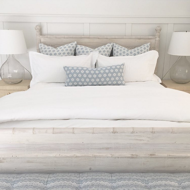 Bedding. Soft grays and white bedding. Bedding with soft, pale grays and white bedding. #Bedding #softgray #palegrays #bedroom #whitebedding Brooke Wagner Design