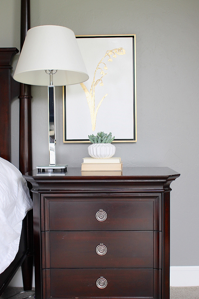 Nightstand is by Lane Furniture. bedroom-nighstand-art Home Bunch's Beautiful Homes of Instagram curlsandcashmere