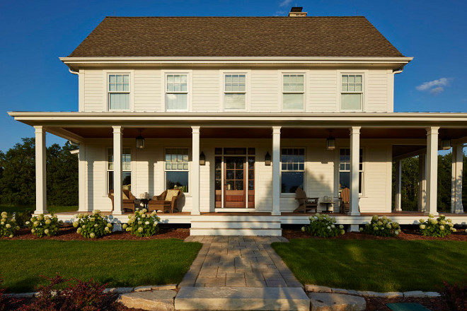 Benjamin Moore Icicle. Benjamin Moore Icicle. Benjamin Moore Icicle. White farmhouse exterior paint color. Benjamin Moore Icicle. #BenjaminMooreIcicle #Whitefarmhouse #Whitefarmhouseexterior #paintcolor benjamin-moore-icicle Hendel Homes