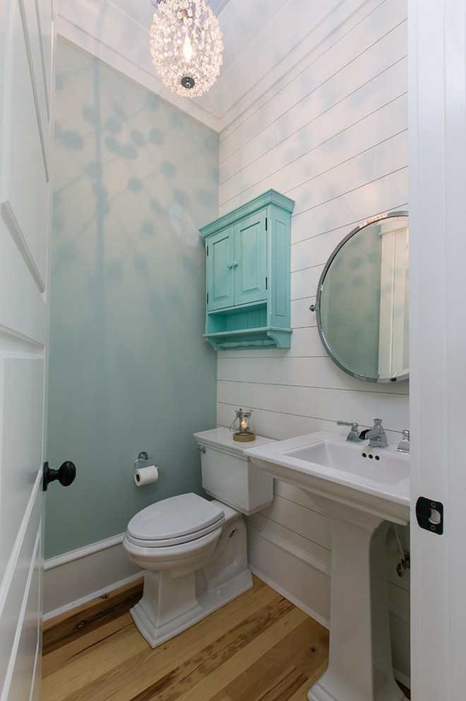 Painted Shiplap Powder Room