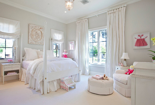 Ivory bedroom paint color. The wall color is Benjamin Moore Paper White 1590. Trim paint color is Farrow & Ball Wimborne White. #ivorybedroom #paintcolor #wallcolor #BenjaminMoorePaperWhite1590 #Trimpaintcolor #FarrowandBallWimborneWhite benjamin-moore-paper-white Nicole Lee Interior Designs