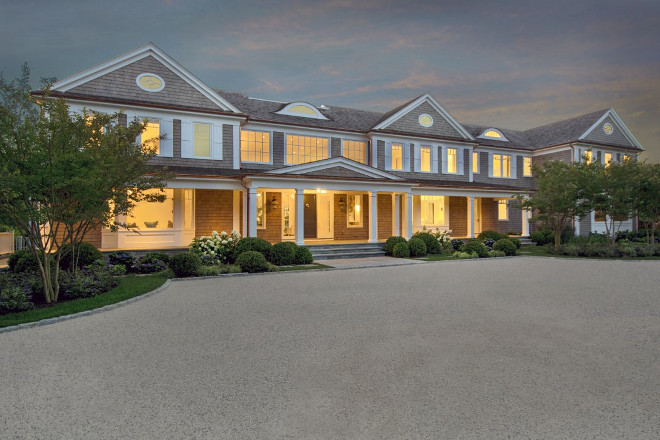 Bridgehampton Shingle Home with gravel driveway. Classic Bridgehampton Shingle Home with gravel driveway. #Bridgehampton #ShingleHome #graveldriveway Sothebys Homes.