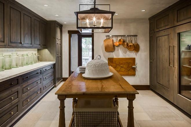 Butlers pantry. Rustic Butlers pantry. Rustic Butlers pantry with Limestone flooring. Rustic Butlers pantry #RusticButlerspantry #Butlerspantry Tiffany Farha Design