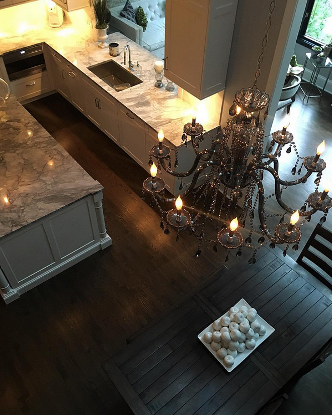 Chandelier. Eating Area Chandelier: The Omni Chandelier in Smoke By Z Gallerie. #Chandelier Beautiful Homes of Instagram Sumhouse_Sumwear