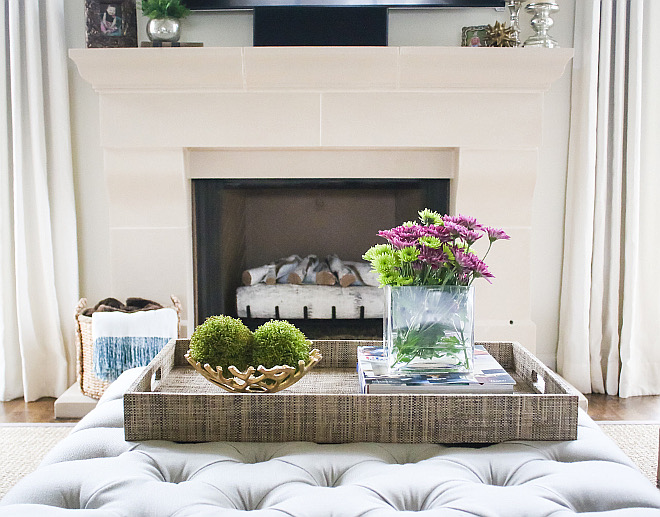 Fireplace is Cast Stone. Fireplace is Cast Stone. Fireplace is Cast Stone. Cat stone #fireplace #catstone Home Bunch's Beautiful Homes of Instagram curlsandcashmere