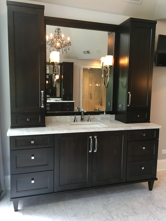 Vanity Sconces are by Feiss WB1561 in Polished Nickel. #Vanity #sconces Beautiful Homes of Instagram Sumhouse_Sumwear