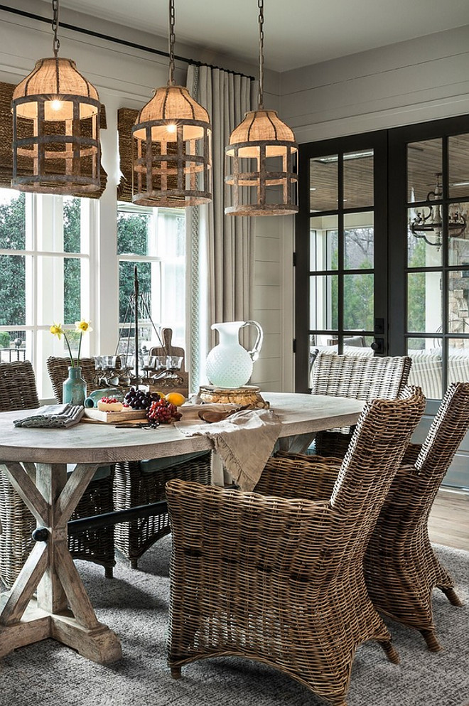 Dining Room Pendant Lighting Casual Farmhouse