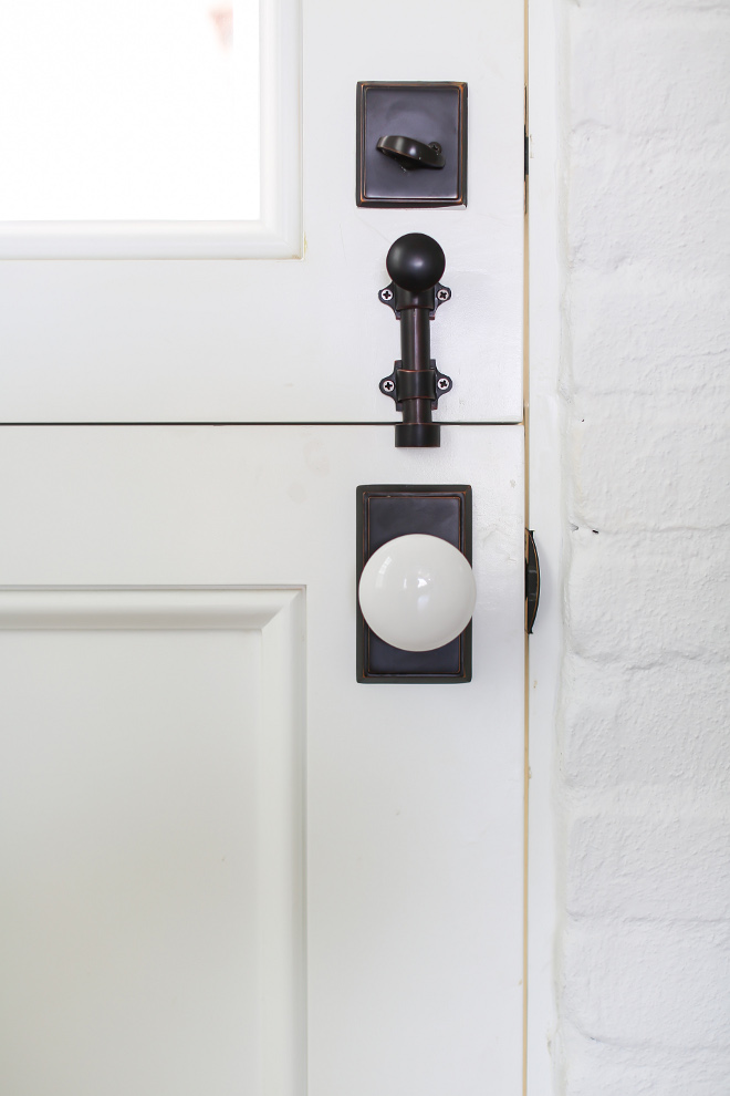Dutch Door Hardware. Door Hardware is Emtek ceramic door handles. Winkle Custom Homes. Melissa Morgan Design. Ryan Garvin Photography